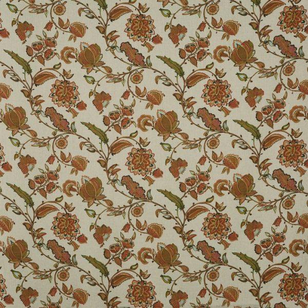 material tapiterie cu model floral kenwood russet