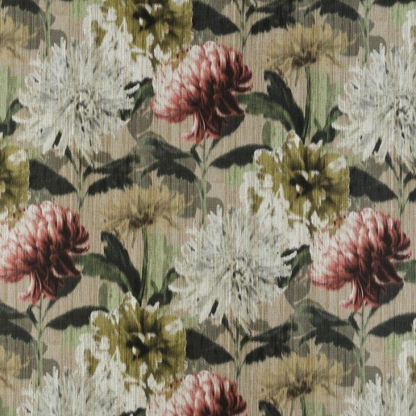 Material textil cu flori supradimensionate Impres 01