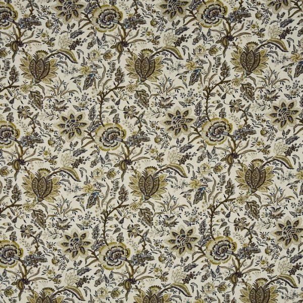 Material textil pentru tapiterie cu design floral Apsley Ochre