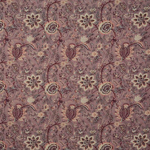 Material textil pentru tapiterie cu design floral Apsley Woodrose