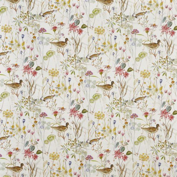 Draperii din bumbac, imprimate cu elemente florale Wetlands Springtime