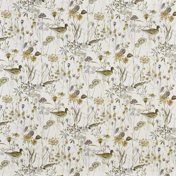 Draperii din bumbac, imprimate cu elemente florale Wetlands Fennel