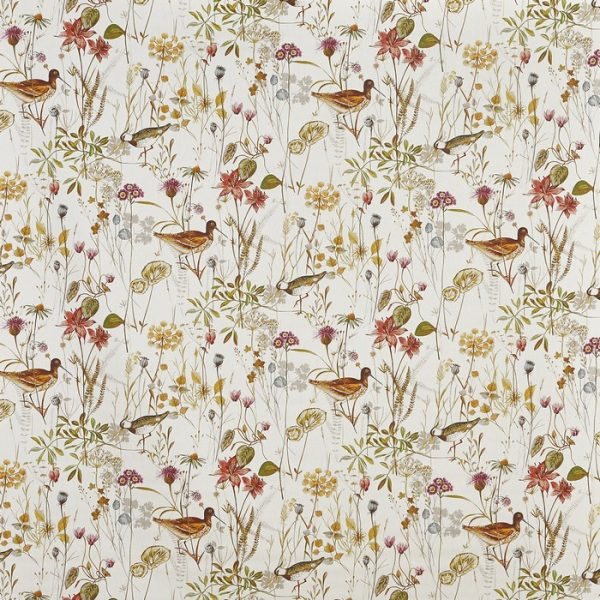 Draperii din bumbac, imprimate cu elemente florale Wetlands Auburn