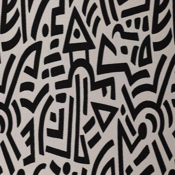 Material textil cu design deosebit alb-negru Butak