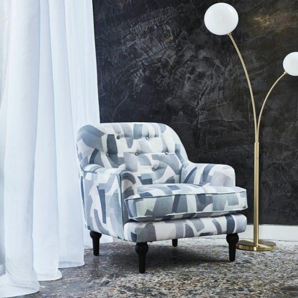 Material textil cu motive geometrice Underground