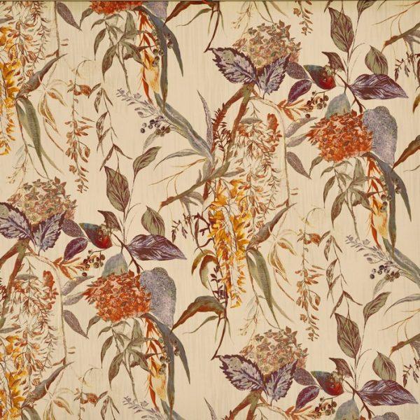 Material tapiterie cu design floral Botanist Amber