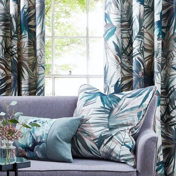 Draperii cu design tropical Waikiki Moonstone