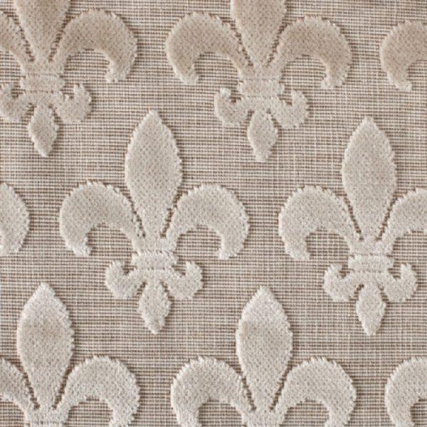 Material textil pentru tapiterie model clasic Fleurs de Lis Beige