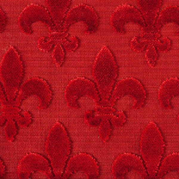 Material textil pentru tapiterie model clasic Fleurs de Lis Roja