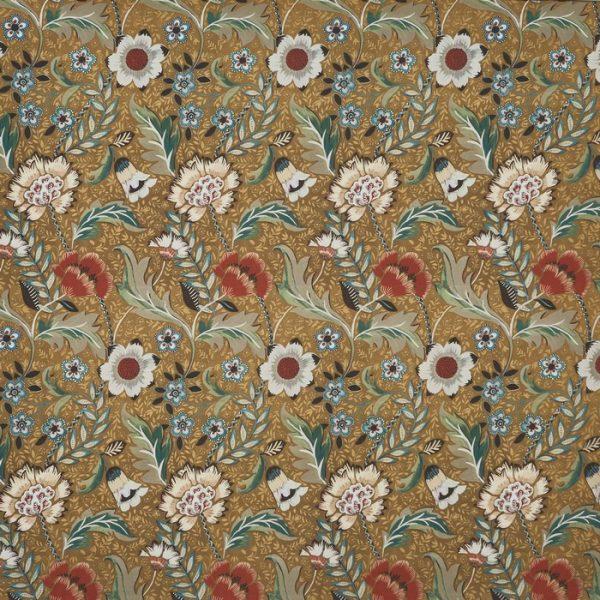 Material textil floral pentru tapiterie Folklore Gilt