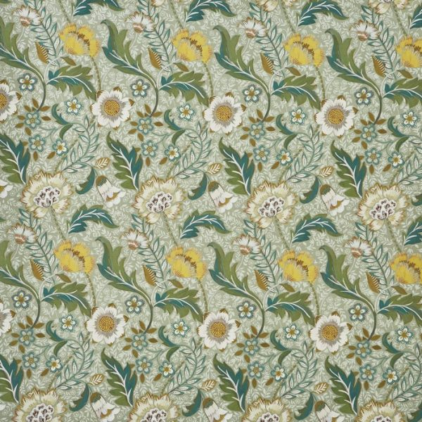 Material textil floral pentru tapiterie Folklore Willow