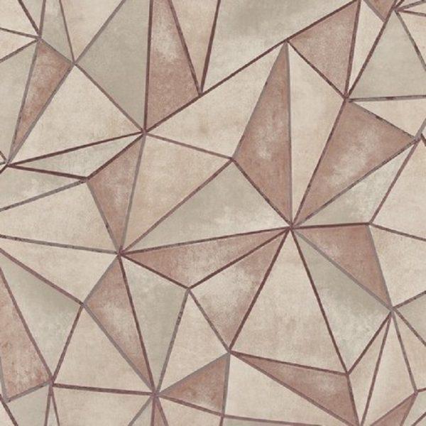 Tapetforme geometrice shard rose quartz