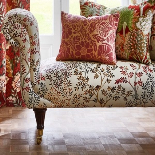 Tapiterie design floral Dickens Russet