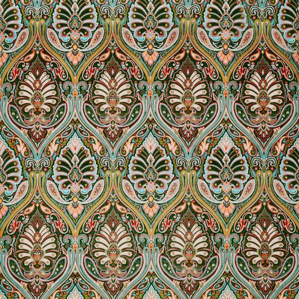 Tapiterie design floral stilizat Antigua Jade
