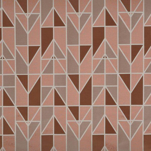Draperii cu model geometric Innovate Copper