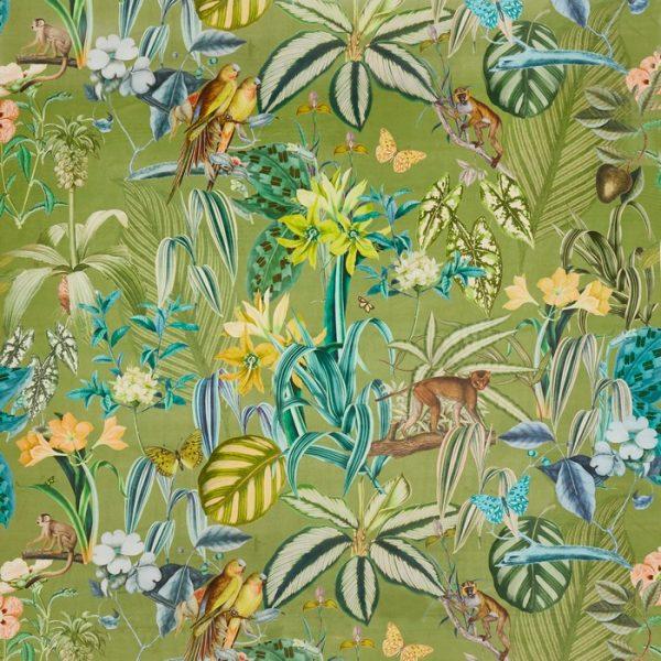 Catifea imprimata design tropical Barbados Palm