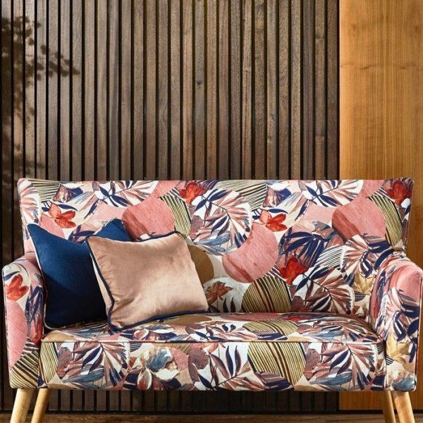 Material textil cu design floral Osaka Spice