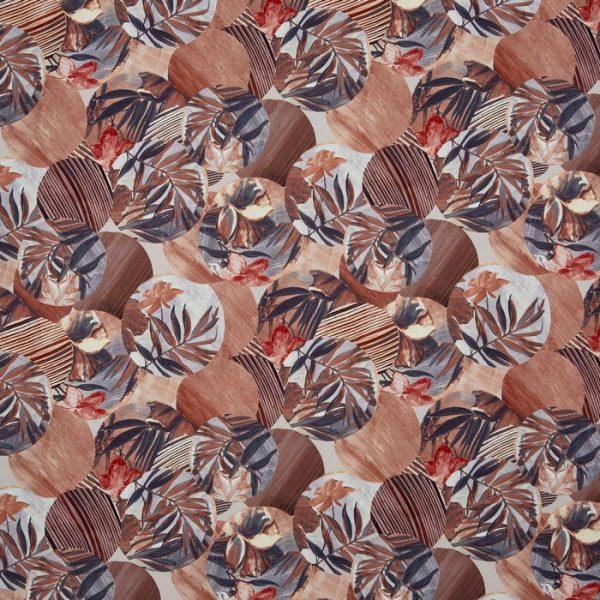 Material textil cu design floral Osaka Papaya