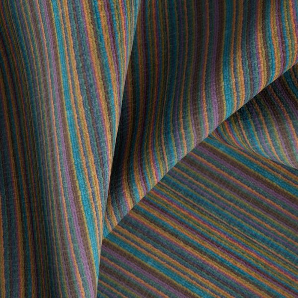Material textil cu dungi pentru tapiterie Bingo 8 (FibreGuard)