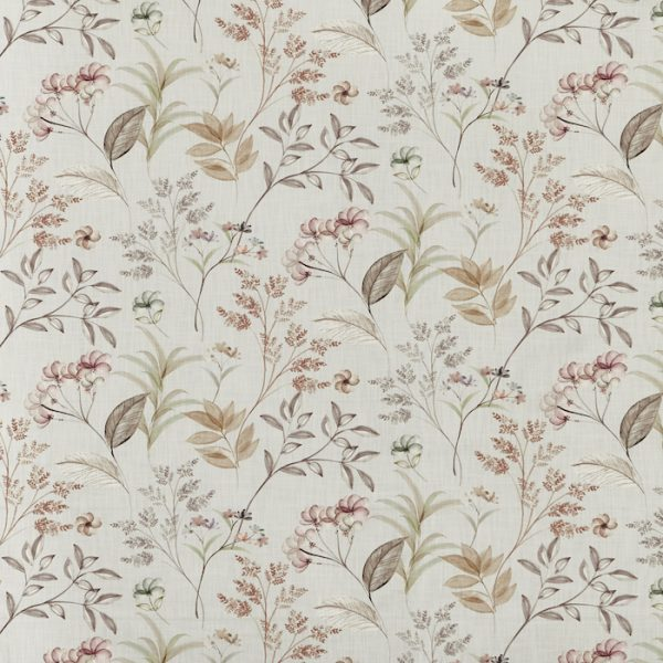 Material textil cu design floral pentru tapiterie Verbena Mineral