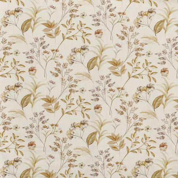 Material textil cu design floral pentru tapiterie Verbena Saffron