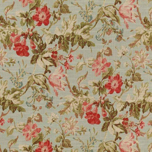 Material textil cu design floral pentru tapiterie Manor 01
