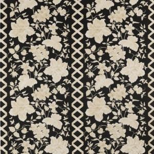 Draperii cu model floral Portobello Negro