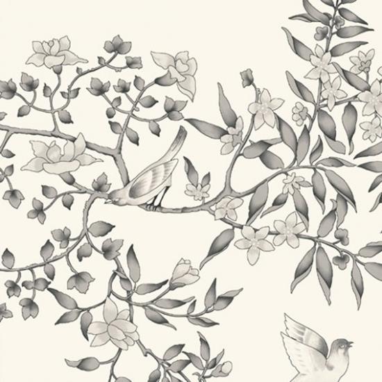 Tapet cu model floral Vivace Blanco