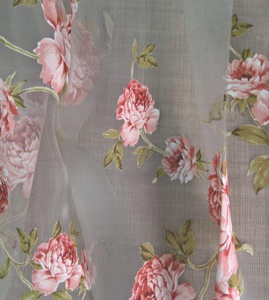 Perdele cu model floral Medit