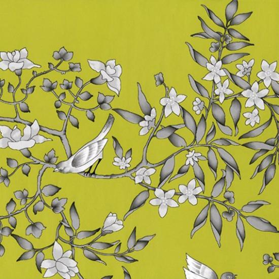 Tapet cu flori Vivace Pistacho