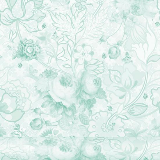 Tapet floral Berenice Menta