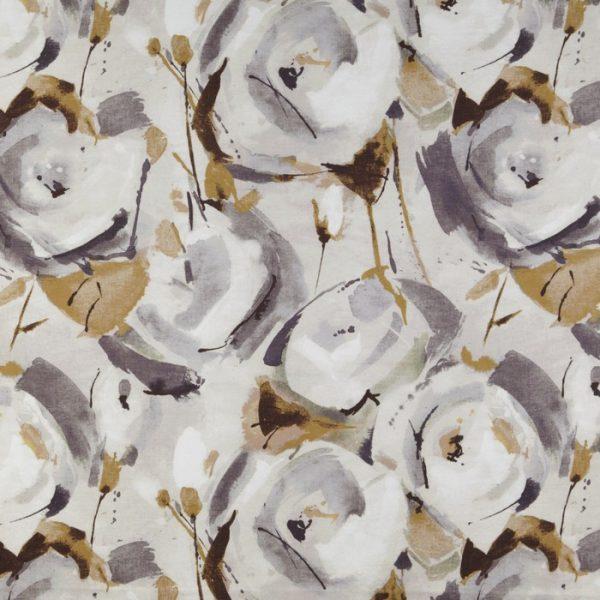 Draperii cu flori Marsella Umber