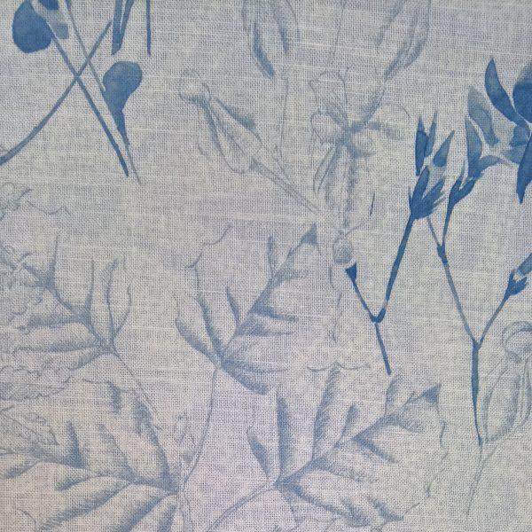 Perdele din bumbac cu model floral Rowan 02