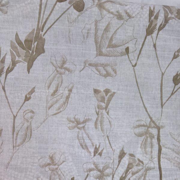 Perdele din bumbac cu model floral Rowan 03