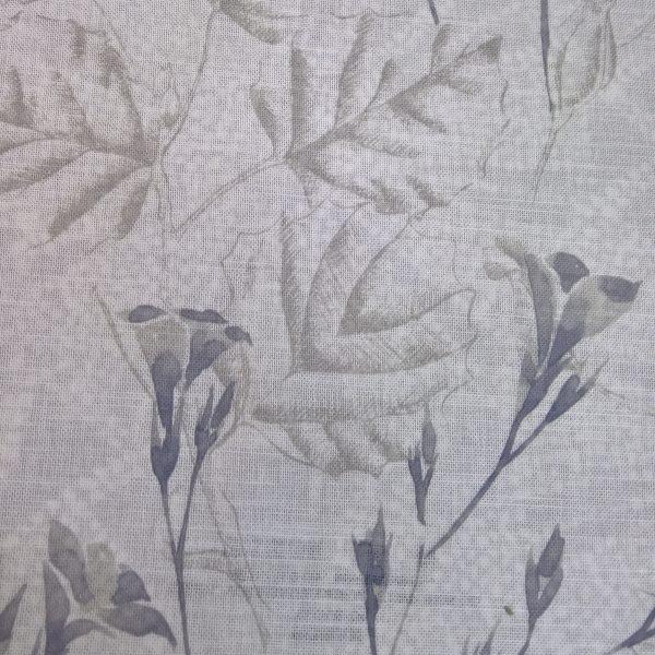 Perdele din bumbac cu model floral Rowan 04