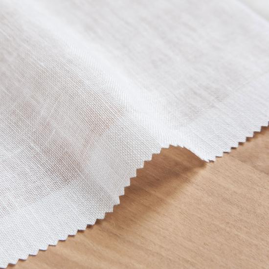 Perdele semitransparente din in 100% Kibo Blanco