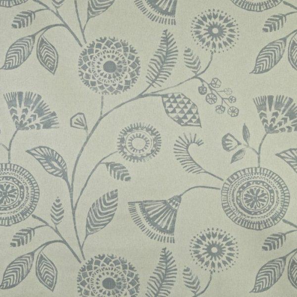 Draperii din in cu imprimeu floral Ecuador Dove