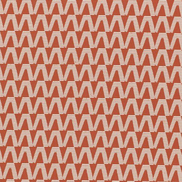 Material tapiterie cu model geometric Domino Cinnabar