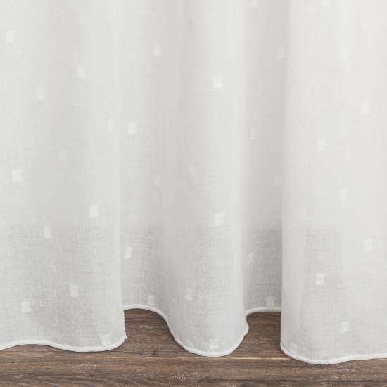Perdele semitransparente Versalles Blanco