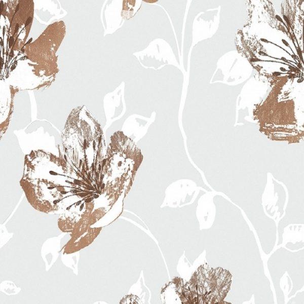 Perdele cu flori Brown