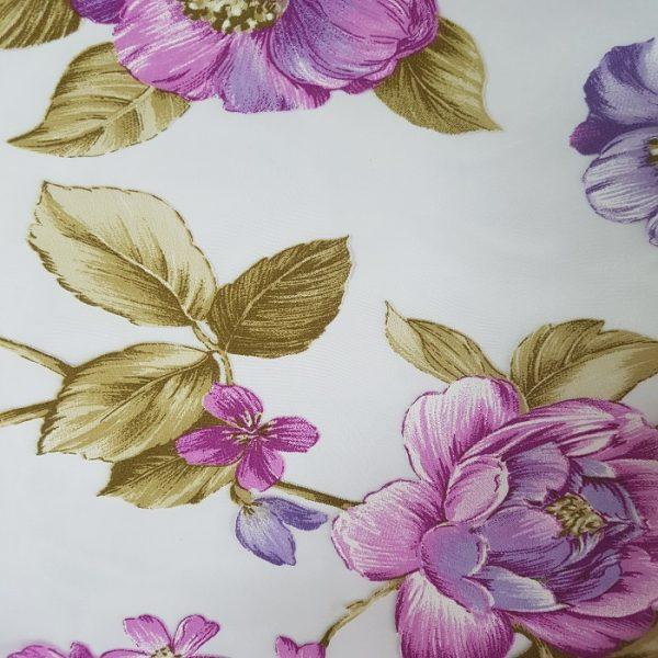 Perdele cu model floral Purple