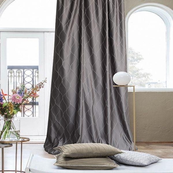 Draperii moderne Lamlash Dark Grey