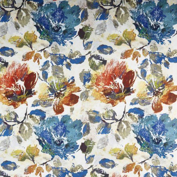 Material tapiterie model floral Opium Sapphire