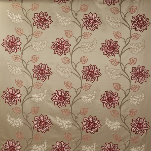 Draperii model floral Wilton Cranberry