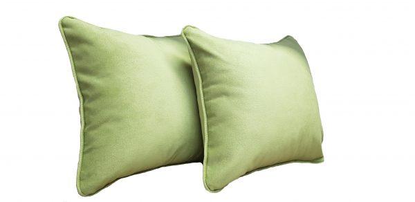 Set doua perne decorative din catifea – culoare verde deschis