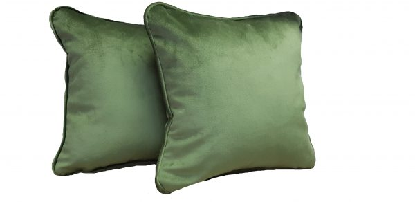 Set doua perne decorative din catifea – culoare verde inchis