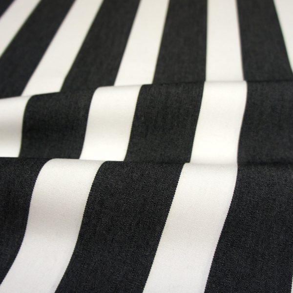 Material textil pentru exterior Listado Negro