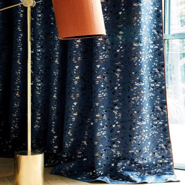 draperii Terrazzo Blue
