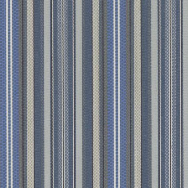 Material textil de exterior Rayure Azul