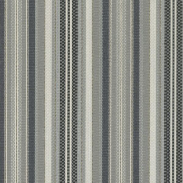 Material textil de exterior Rayure Gris